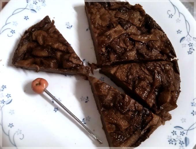 巧克力蘋果隱形蛋糕