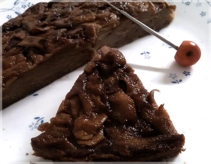 巧克力蘋果隱形蛋糕-
