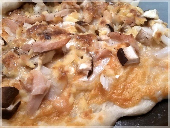 洋蔥菌菇燻雞披薩5