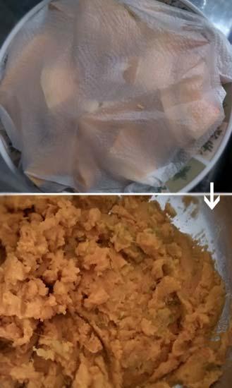 南瓜紅豆杯子蛋糕1