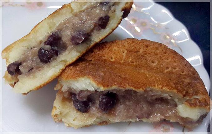 蛋糕餅皮車輪餅-杏仁紅豆