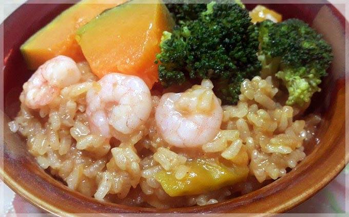 咖哩南瓜蝦仁燉飯4