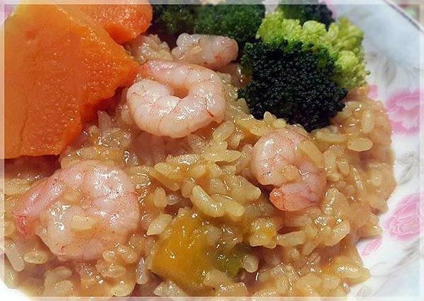 咖哩南瓜蝦仁燉飯