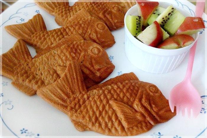 鯛魚造型黑糖麻糬餅