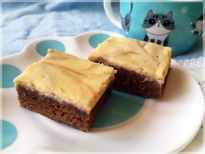 巧克力乳酪雙色蛋糕-