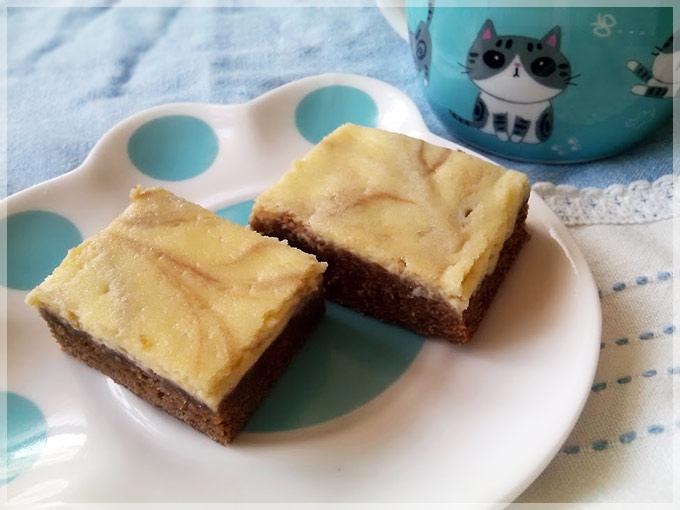 巧克力乳酪雙色蛋糕