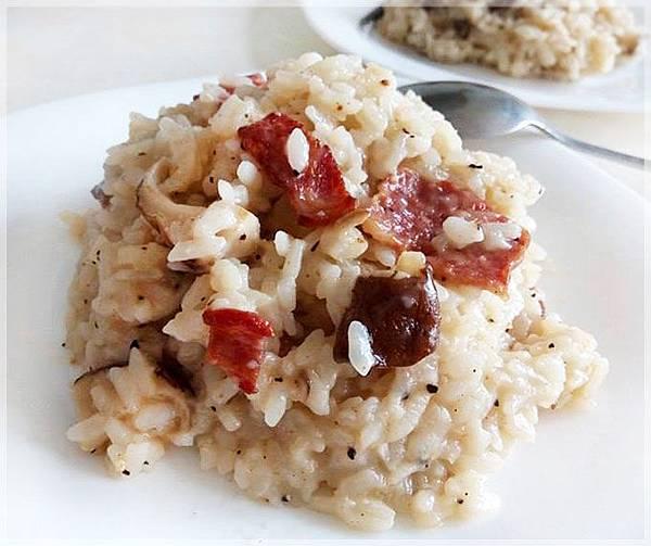 培根白醬燉飯