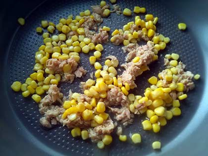 鮪魚玉米義大利麵1