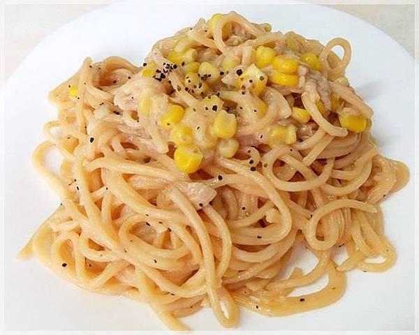 鮪魚玉米義大利麵