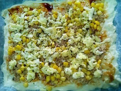 鮪魚玉米披薩4