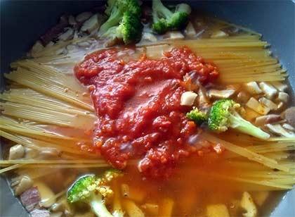 培根紅醬義大利麵4