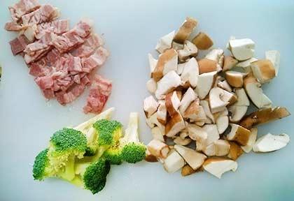 培根紅醬義大利麵1