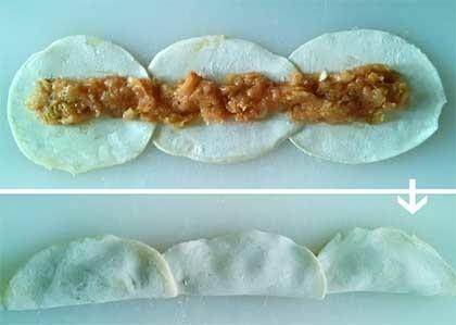 泡菜雞肉玫瑰煎餃3
