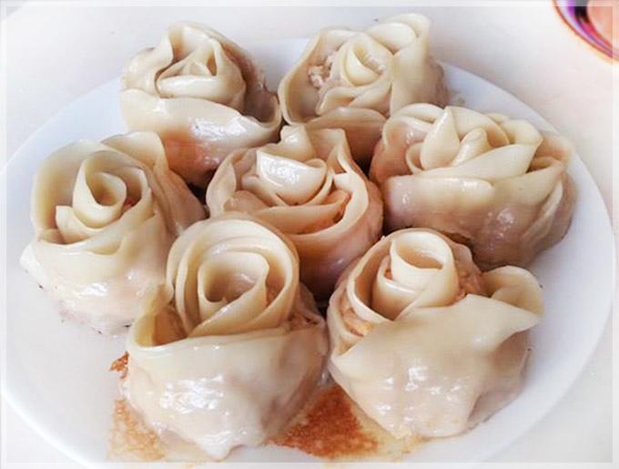 泡菜雞肉玫瑰煎餃-