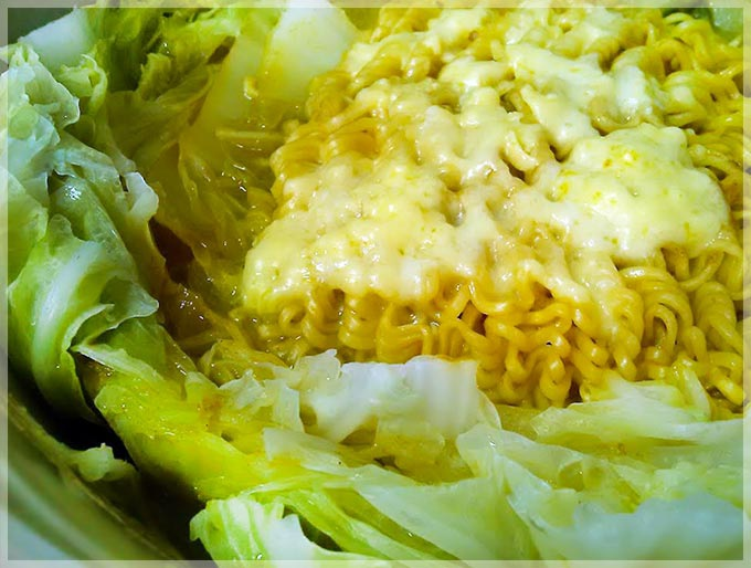千層白菜-咖哩麵