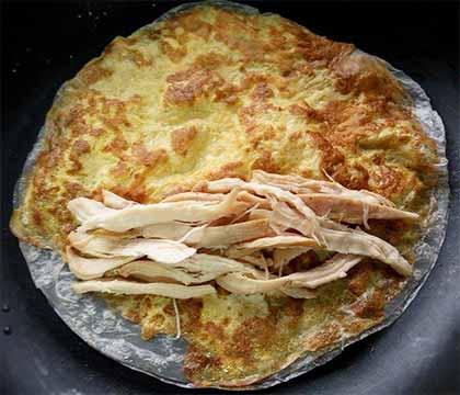 薑醬雞絲蛋餅3