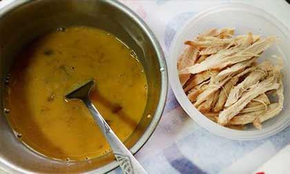 薑醬雞絲蛋餅1