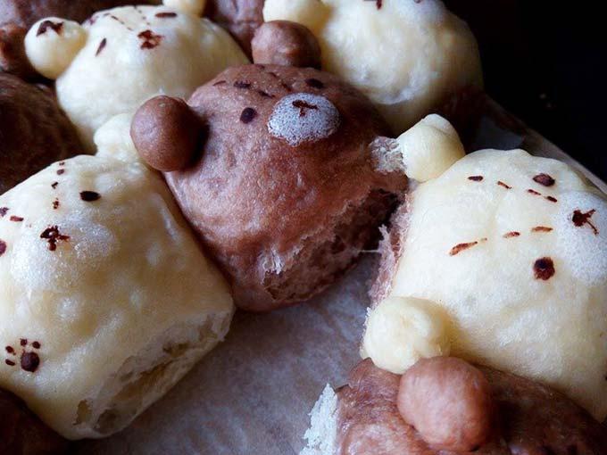 雙色泰迪熊鮮奶油餐包[8]