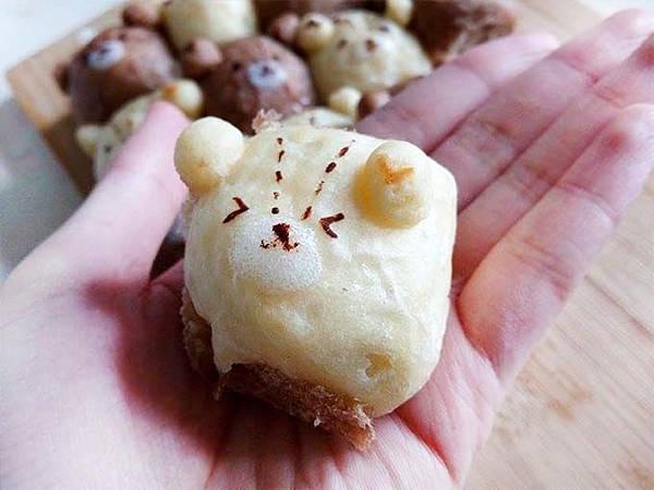 雙色泰迪熊鮮奶油餐包[7]