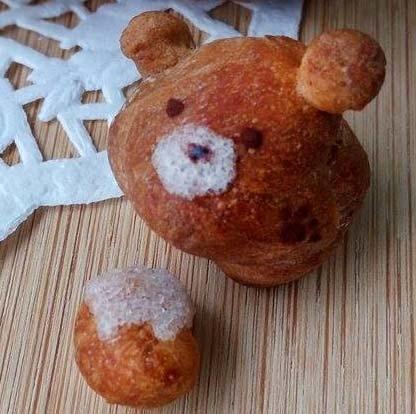 雙色泰迪熊鮮奶油餐包[6]