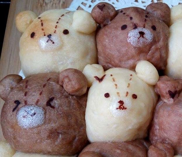 雙色泰迪熊鮮奶油餐包[5]