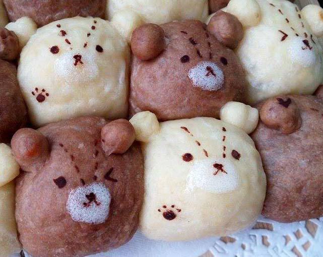 雙色泰迪熊鮮奶油餐包[3]