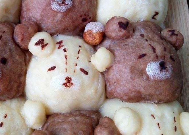 雙色泰迪熊鮮奶油餐包[4]