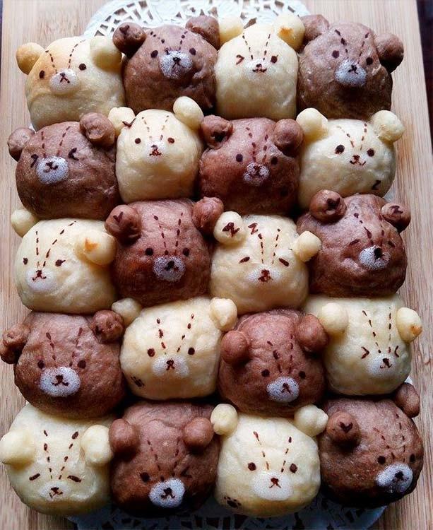 雙色泰迪熊鮮奶油餐包[1]
