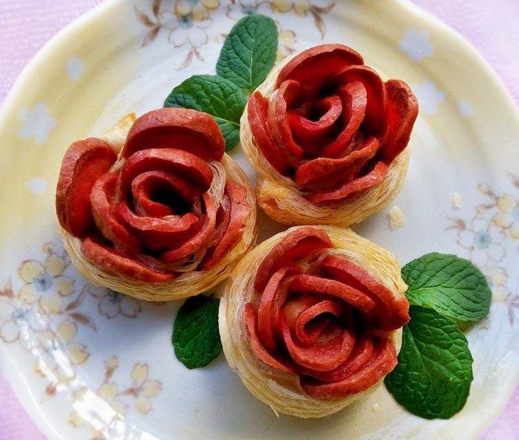 熱狗玫瑰花派