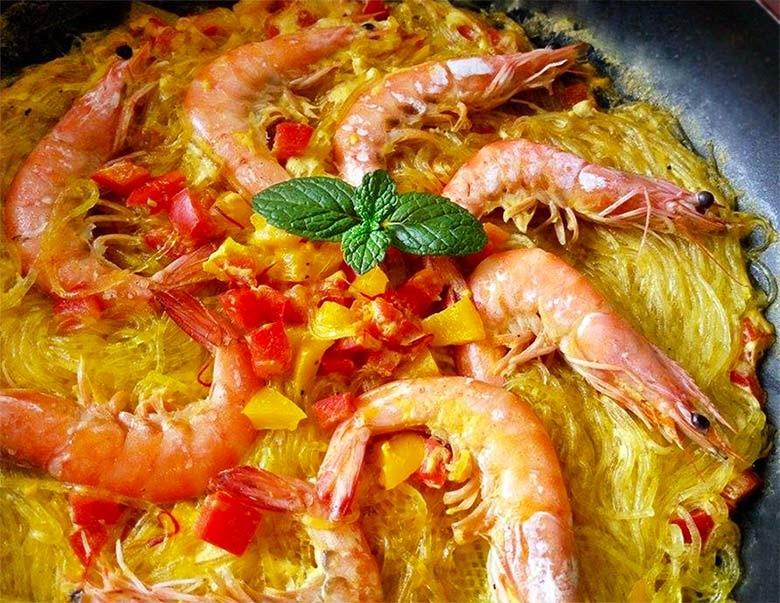 西班牙風鮮蝦冬粉煲-