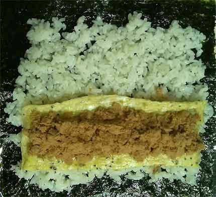 肉鬆蛋壽司4