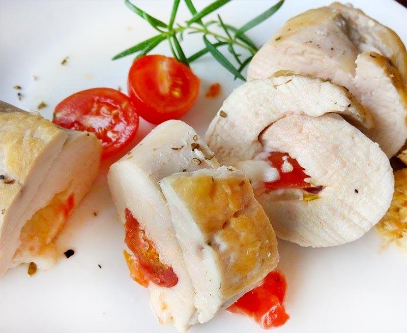 番茄起司雞肉捲-
