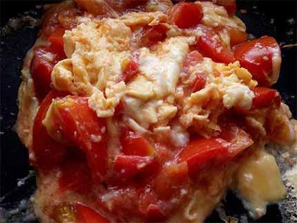 番茄蛋炒麵4