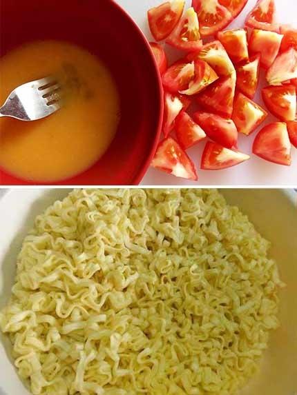 番茄蛋炒麵1