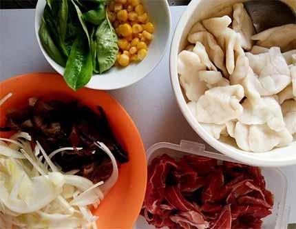 羊肉炒麵疙瘩1