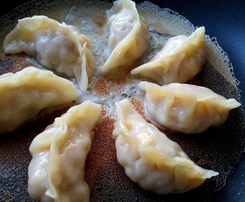 玉米豬肉半月餃