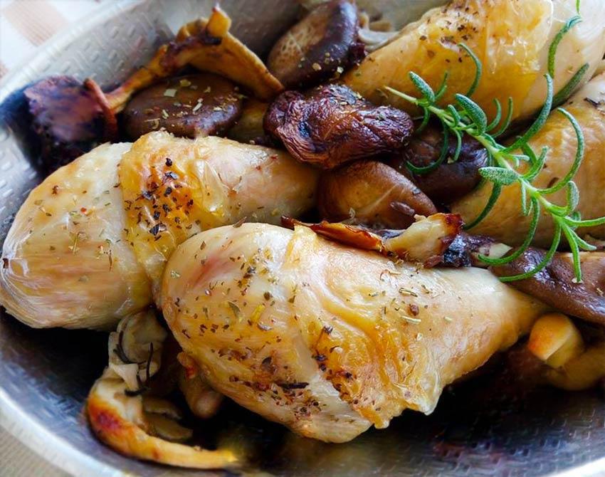 義式烤菇雞
