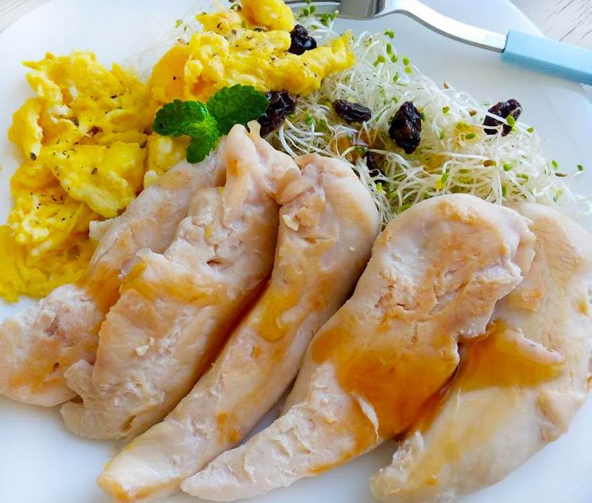 橘醬雞柳溫沙拉