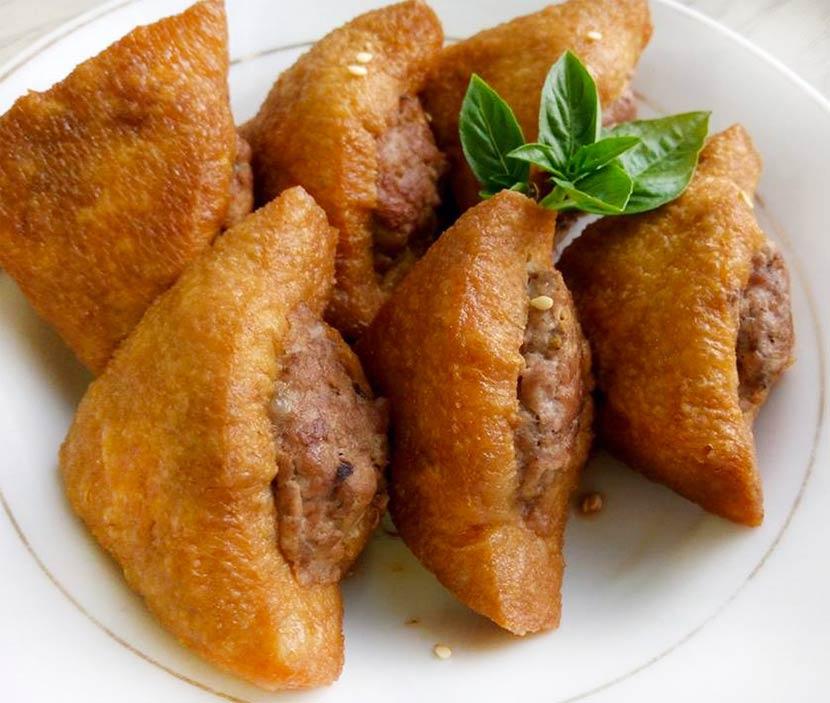 油豆腐鑲肉-