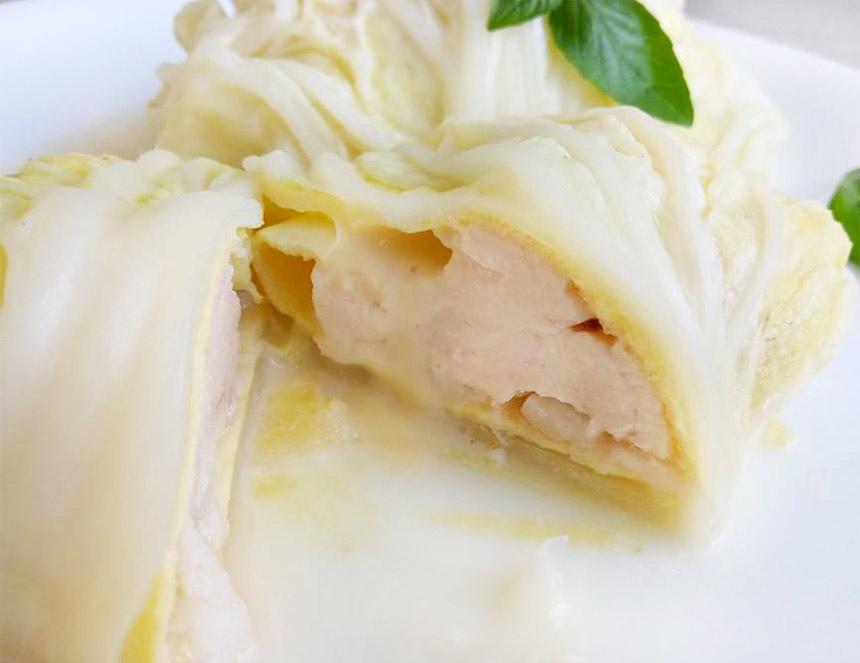 白菜起司雞肉捲