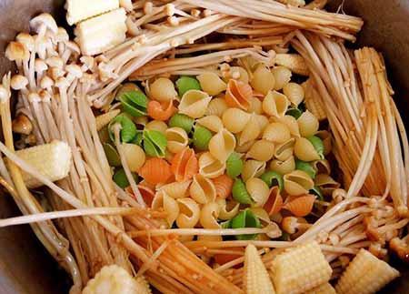 白醬菇雞義大利麵3