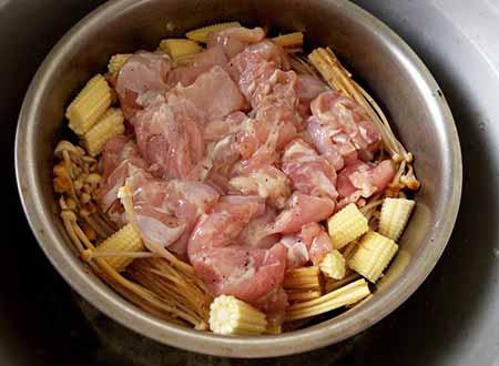 白醬菇雞義大利麵5