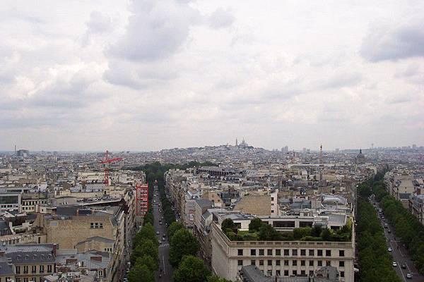從凱旋門看巴黎