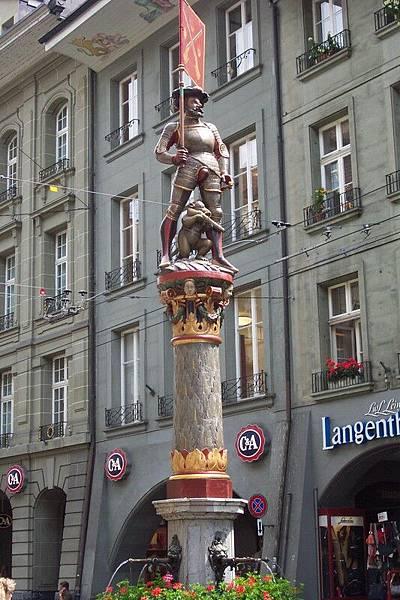 瑞士首都伯恩  Bern -射擊手噴泉  O.S
