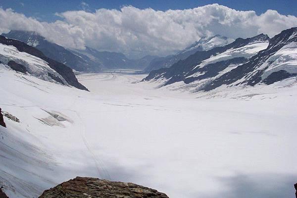 少女峰頂-冰河