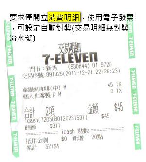 7-11交易明細