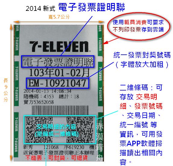 2014電子發票證明聯
