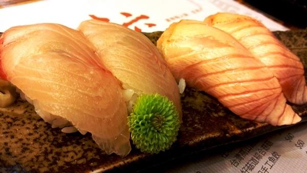 青干握壽司 炙燒鮭魚握壽司 景美美食初二十六火鍋店