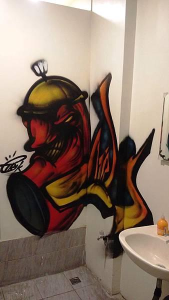 27 廁所塗鴉 大魚墮落