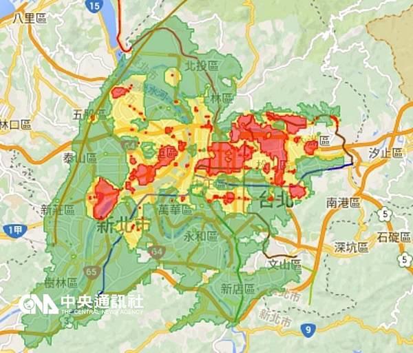 台北新北土壤液化地圖